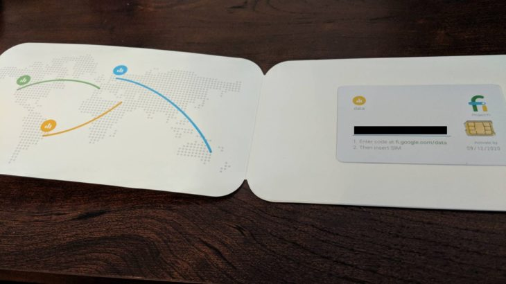 Project Fi – Data Only SIM 情報